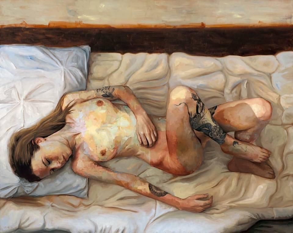 Ели Камър и нейните картини на окървавени тела